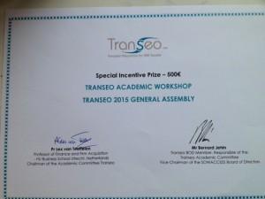 Transeo award